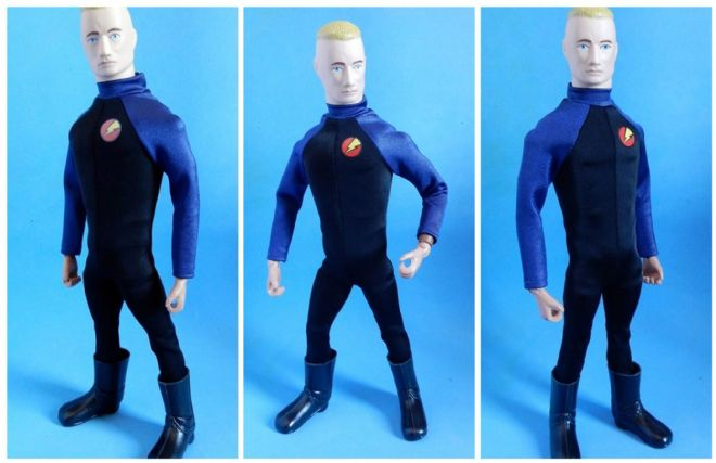 LoucoPorBonecos - Gi Joe Super Joe - BLACK/BLUE JUMPSUIT